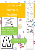 ABC Writing Activities, Practice Uppercase, Lowercase, and Numbers