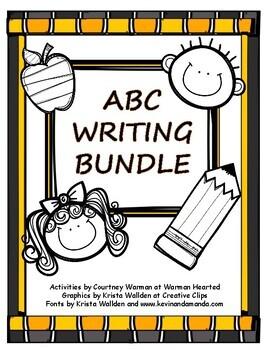 ABC Writing Packet - Lowercase and Uppercase Letters, Tracing, Spelling Practice