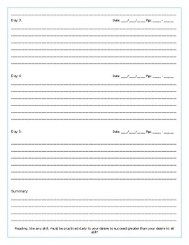 ABC-Writing ELAR SSR Book Log with Sentence Frames