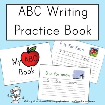 Abc Writing Practice Book By Laura Torres Teachers Pay
