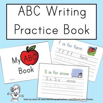 ABC Writing Practice Book
