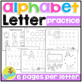 ABC Pre-Writing Skills Tracing Practice - letter stroke order -