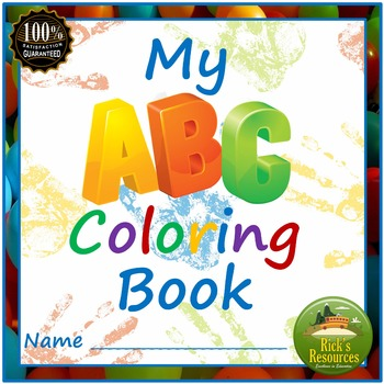 Alphabet Letters Coloring Book