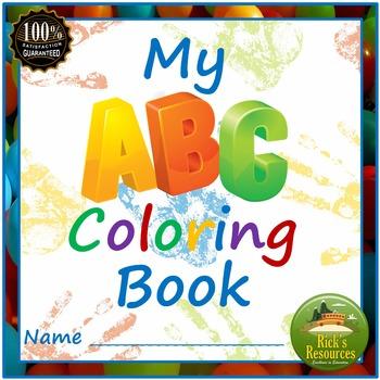 Alphabet Letters Coloring Book