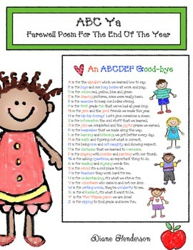 REVISED ABC Ya Farewell Poem For The End Of The Year