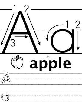 ABC/abc Tracing & Handwriting Worksheets B&W (Priscilla Beth @DaycareSupport)