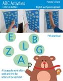 ABC activities. English and Spanish Alphabet