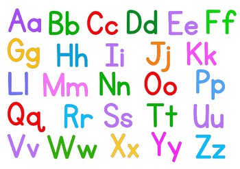 ABC alphabet double sided place mat