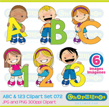 ABC and 123 Clipart, numbers and letters clipart, school graphics set 072