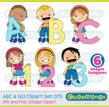 ABC and 123 Clipart, numbers and letters clipart, school graphics set 073
