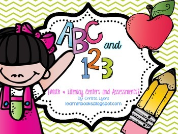 ABC and 123 {Math & Literacy Assessments and Centers}
