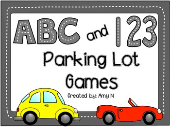 ABC and 123 Parking Lot Games