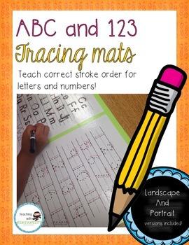 ABC and 123 Tracing Mats