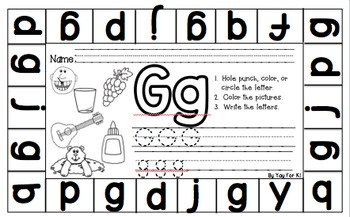 ABC and Beginning Sound Punch Sheets