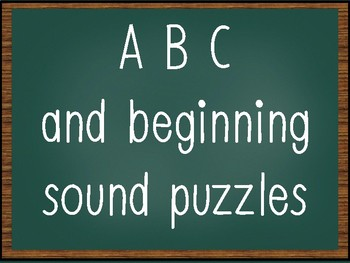 ABC and Beginning Sound Puzzles
