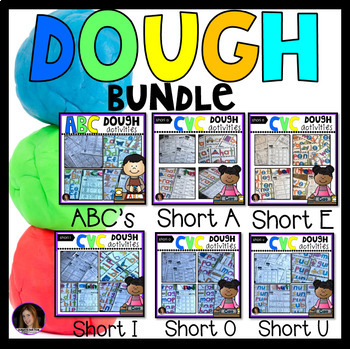 ABC and CVC Playdough Mat GROWING Bundle