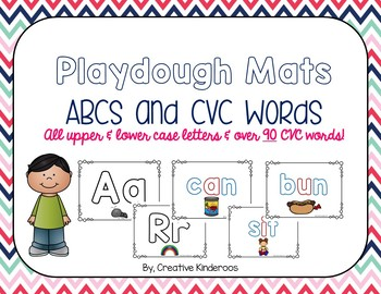 ABC and CVC Playdough Mats- HUGE Bundle!