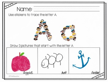 ABC and Fine Motor Practice for Little Learners A-Z
