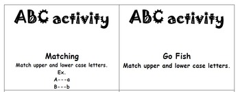 ABC and Number Activity Cards