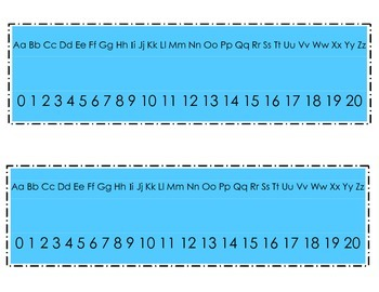 ABC and Number Line Plates {FREEBIE}