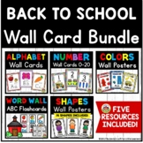 ABC and Number Wall Card Bundle