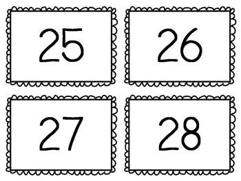 ABC and Numbers to 30 Flashcards