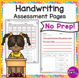 ABC, Numbers and Sentence Handwriting Assessment