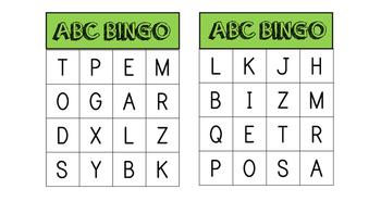 ABC and Site word Bingo
