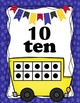 ABC and Ten Frames Bus Posters 0-20