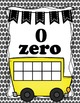 Alphabet ABC posters and Ten Frames Bus Posters 0-20 - Black