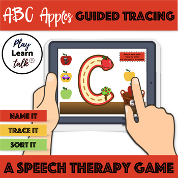 ABC apples guided tracing