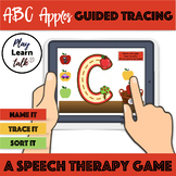(Distance Learning)  ABC apples guided tracing