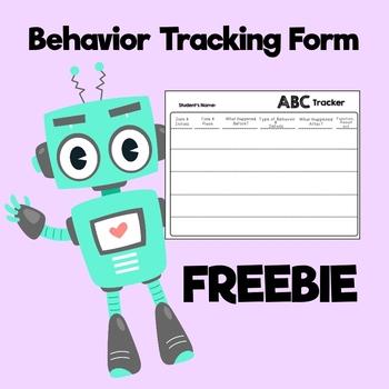 ABC behavior tracking form