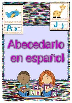 ABC cards in Spanish / Tarjetas ABECEDARIO ESPAÑOL