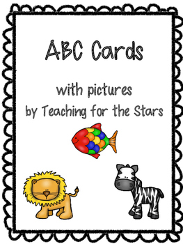 ABC cards with black border
