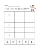 ABC center trace, stamp, glue
