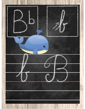 ABC chalkboard cards