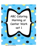 Beginning Sound ABC morning or center work set 1