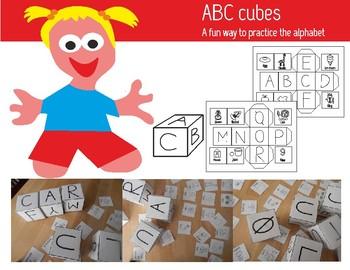 ABC cubes, A fun way to practice the alphabet