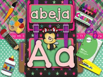 ABC escolar espanol manuscrito