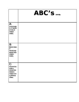 ABC exit slip