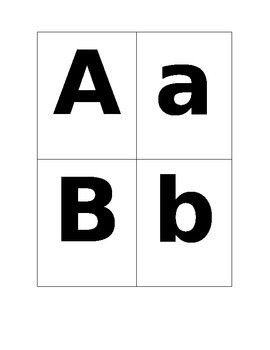 ABC flash cards- Capital and lower case