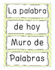 ABC for Word Wall in Spanish - Muro de Palabras