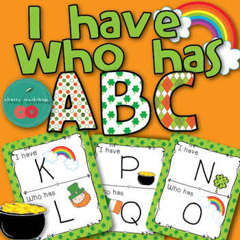 ABC game - I have who has - St Patrick's day