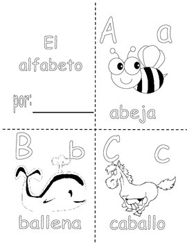 ABC in Spanish - coloring booklet