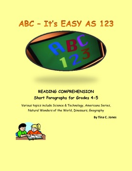 COMMON CORE:  4th & 5th Grades Reading Comprehension:  Short Passages