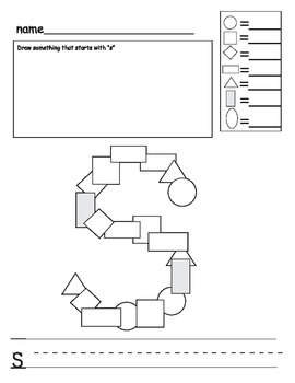 ABC letter mosaic (and counting and fine motor) activity (N-Z)