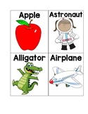 ABC letter picture cards
