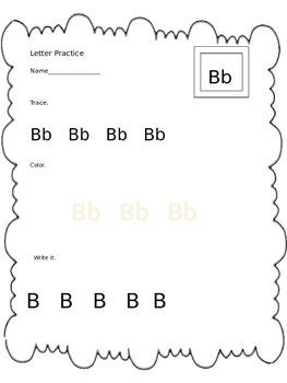 ABC letter sheets