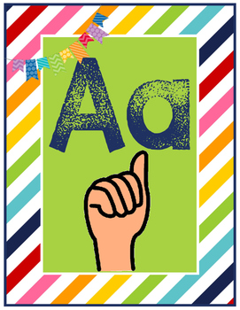 ABC letter wall with sign language
